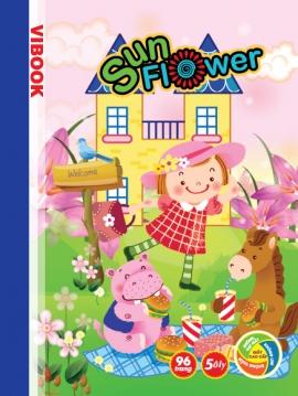 """Tập Vibook """"Sunflower"""" in caro 5 ô ly 200 trang"""
