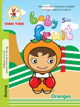 "Tập  ""Baby Fruit"" 100tr caro 5 ô ly"