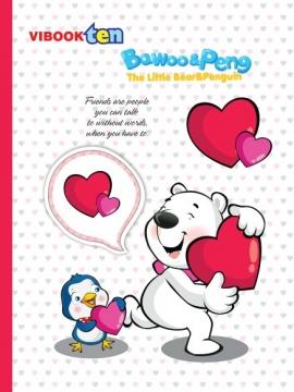 """Tập Vibook """"Gấu Bo"""" 96 trang ô ly hoặc caro"""